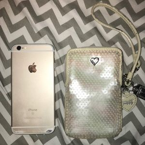 Coach White Sequin Wristlet - Gently Used